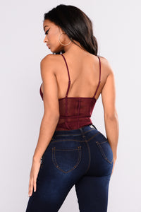 Show Me The Other Side Bodysuit - Plum