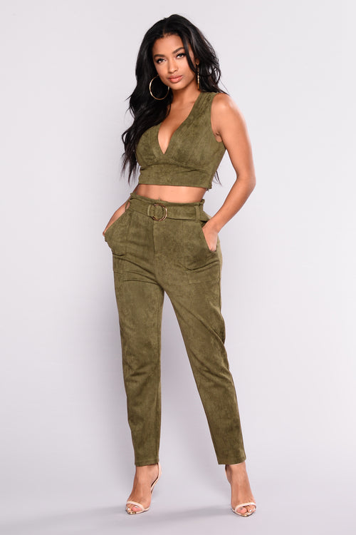Above The Law Pant Set - Olive
