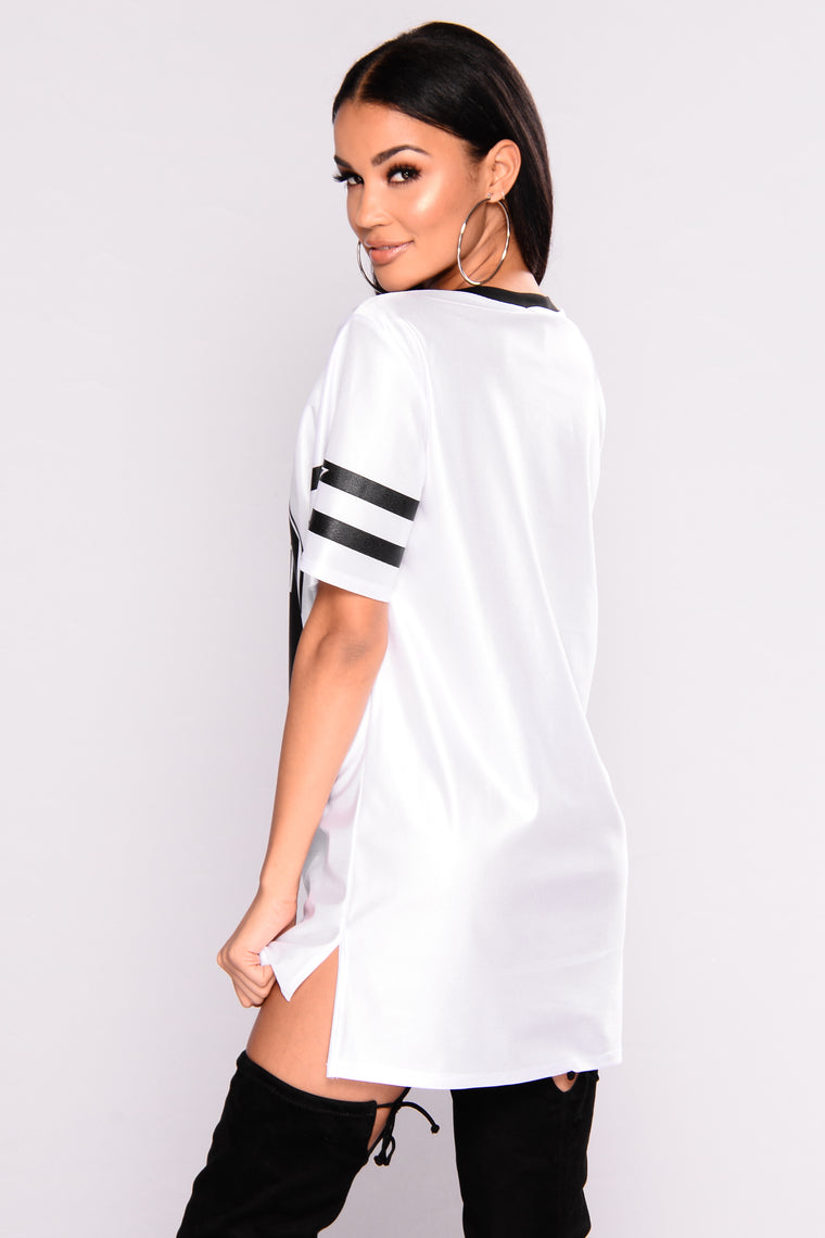 The Right Way Jersey Top - White