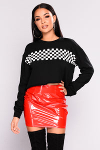 Rider Girl Crop Sweatshirt - Black