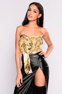 Cha China Top - White/Mustard