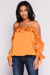 Richelle Ruffle Top - Amber