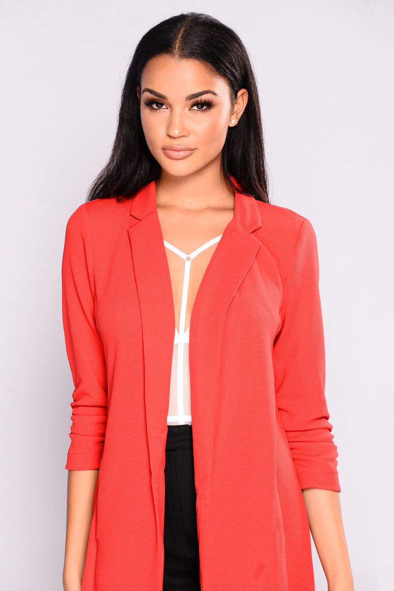 Cool Calm And Collected Blazer - Red