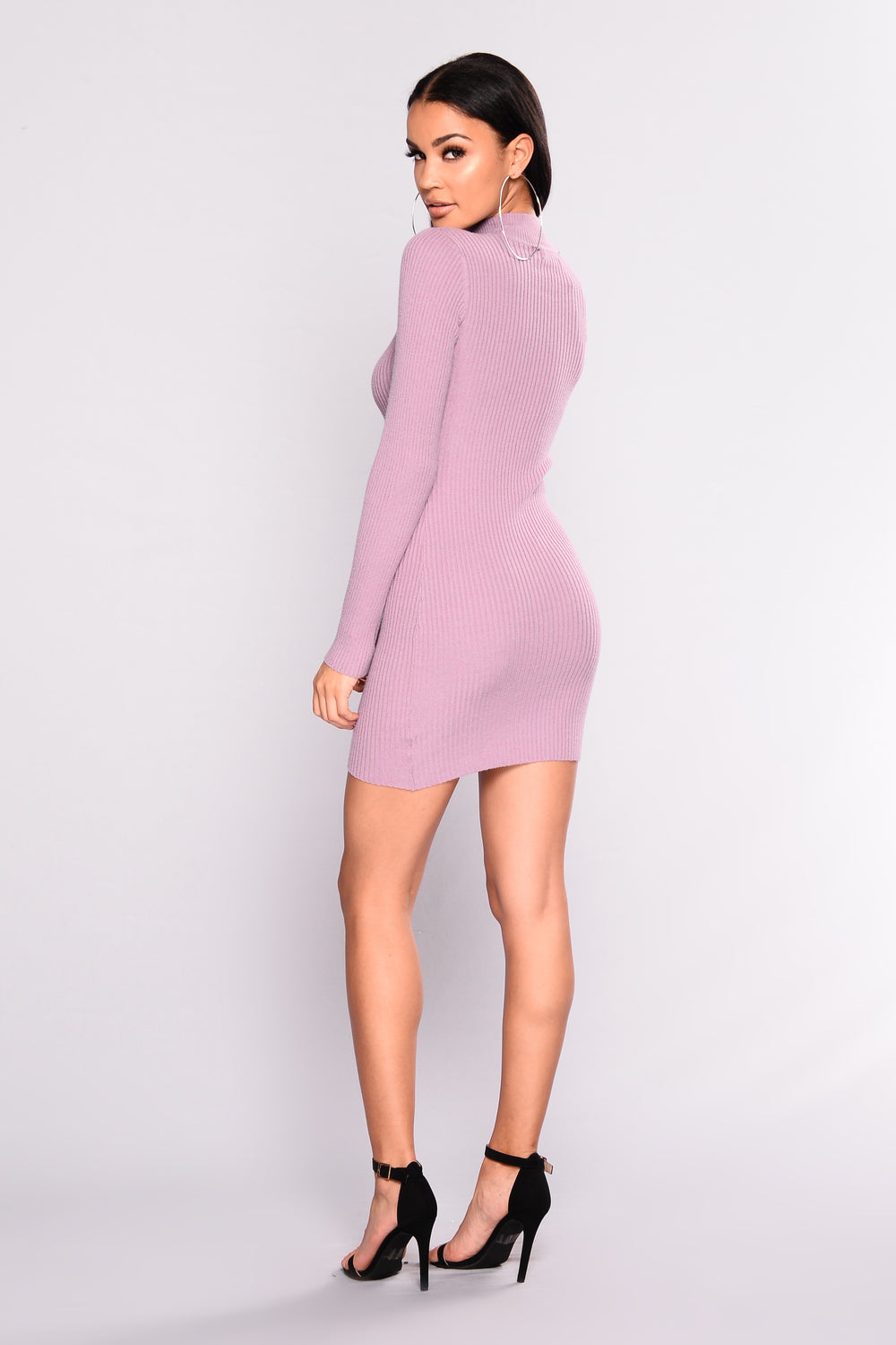 Borrow Love Knit Dress - Lavender