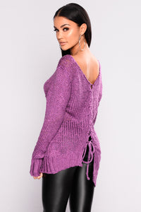 Slightly Slanted Sweater - Purple
