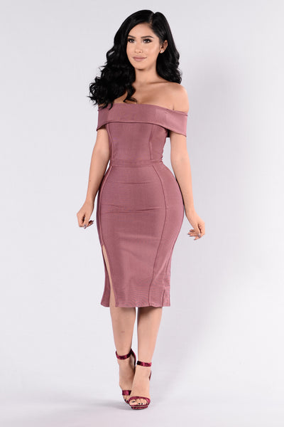 Showdown Dress - Dark Mauve