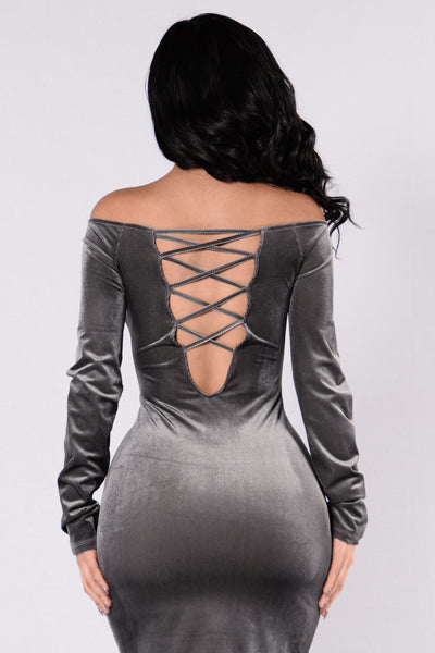 Huntress Dress - Charcoal