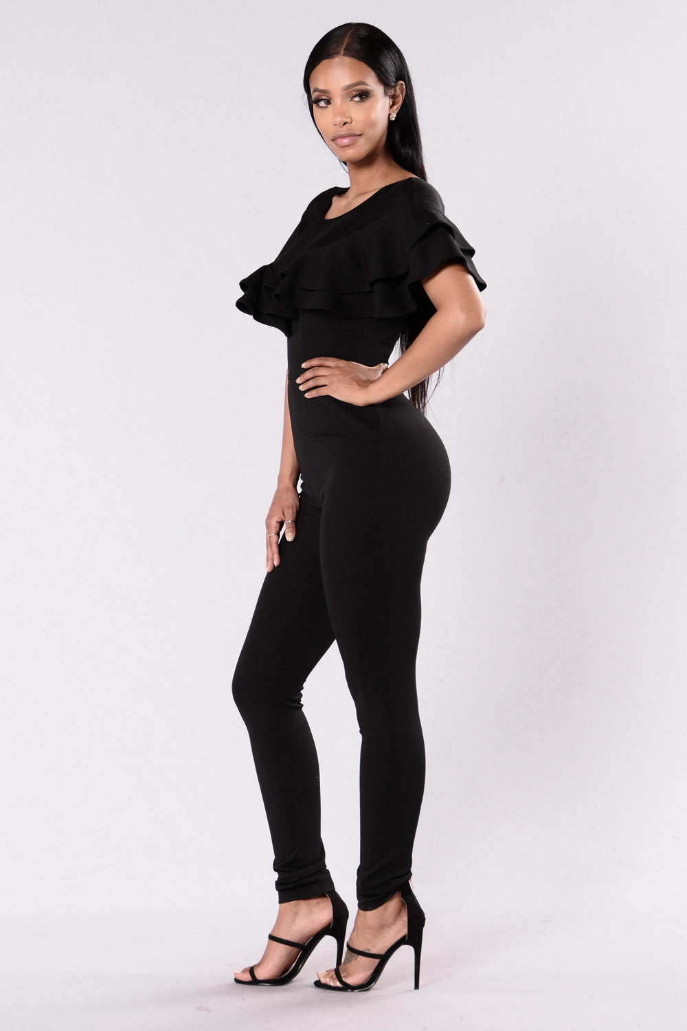 Let's Go Dancing Jumpsuit - Black