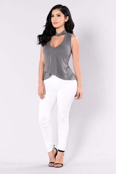 Ms. Sass Top - Charcoal