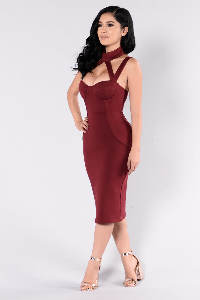 Evil Queen Dress - Burgundy