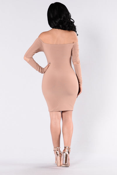 Slay Like Ky Dress - Mocha