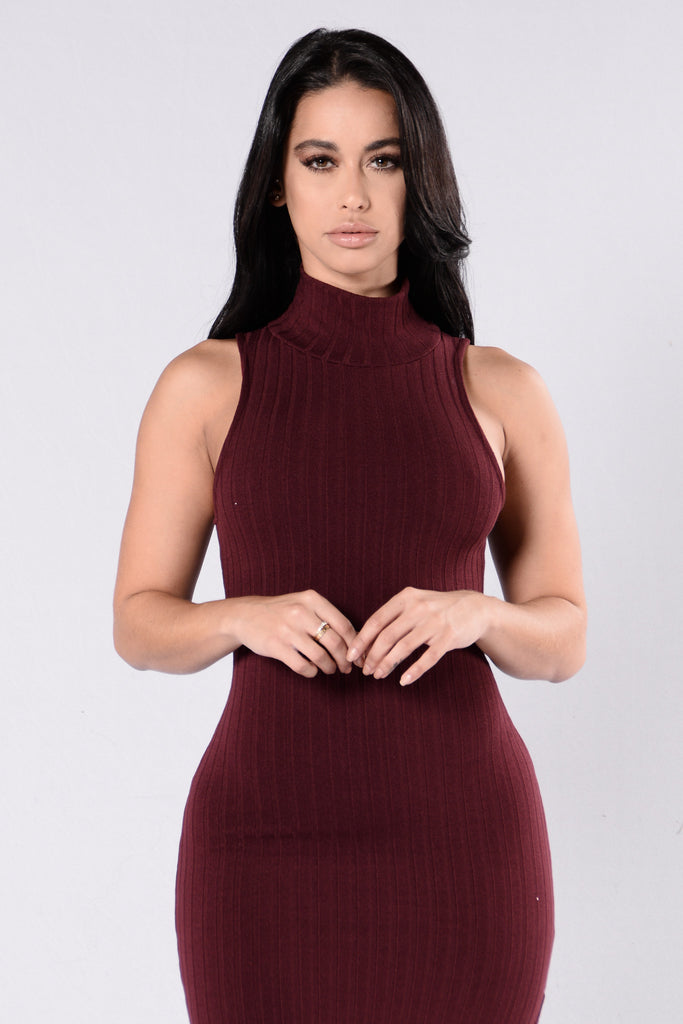 Mama Mia Dress - Burgundy
