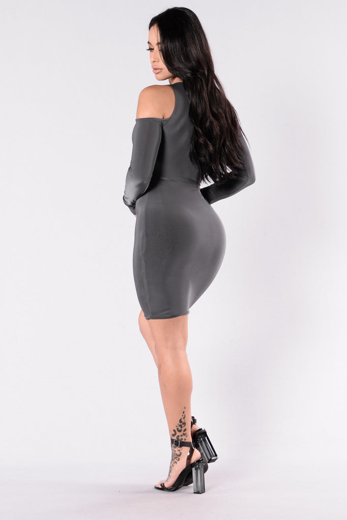 Daycation Dress - Charcoal