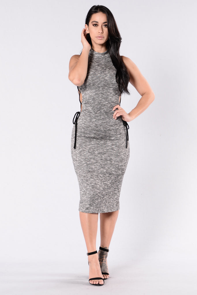 The Finer Things Dress - Heather Grey