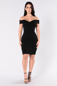 Speak Your Heart Dress - Black Angle 1