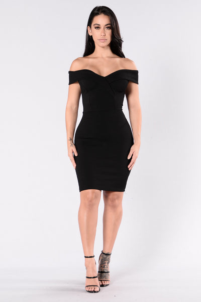 Speak Your Heart Dress - Black