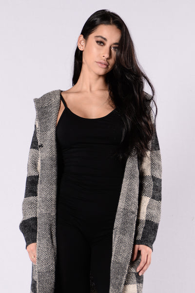 Comfort Zone Cardigan - Grey