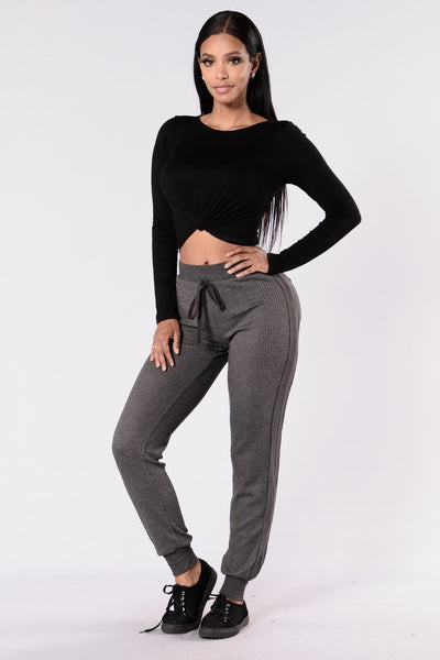 Cozy Cabin Pants - Charcoal