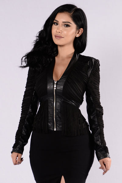 Fringe Binge Jacket - Black