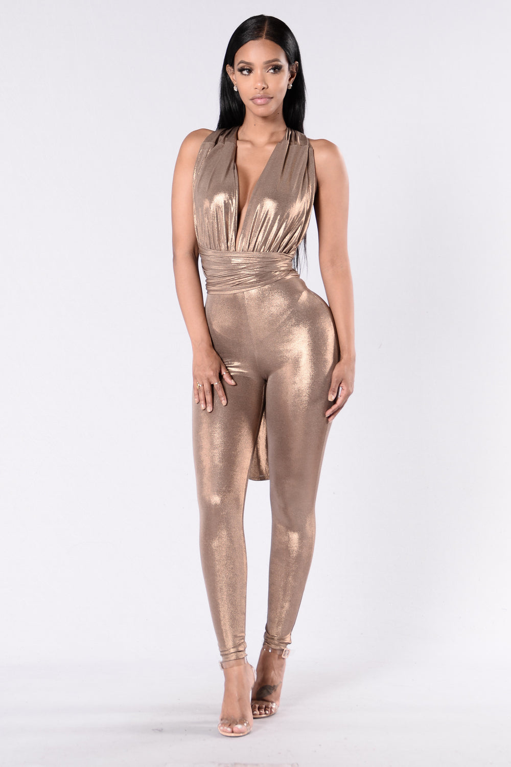 Glitter Magic Jumpsuit - Gold