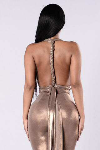 Glitter Magic Jumpsuit- Gold