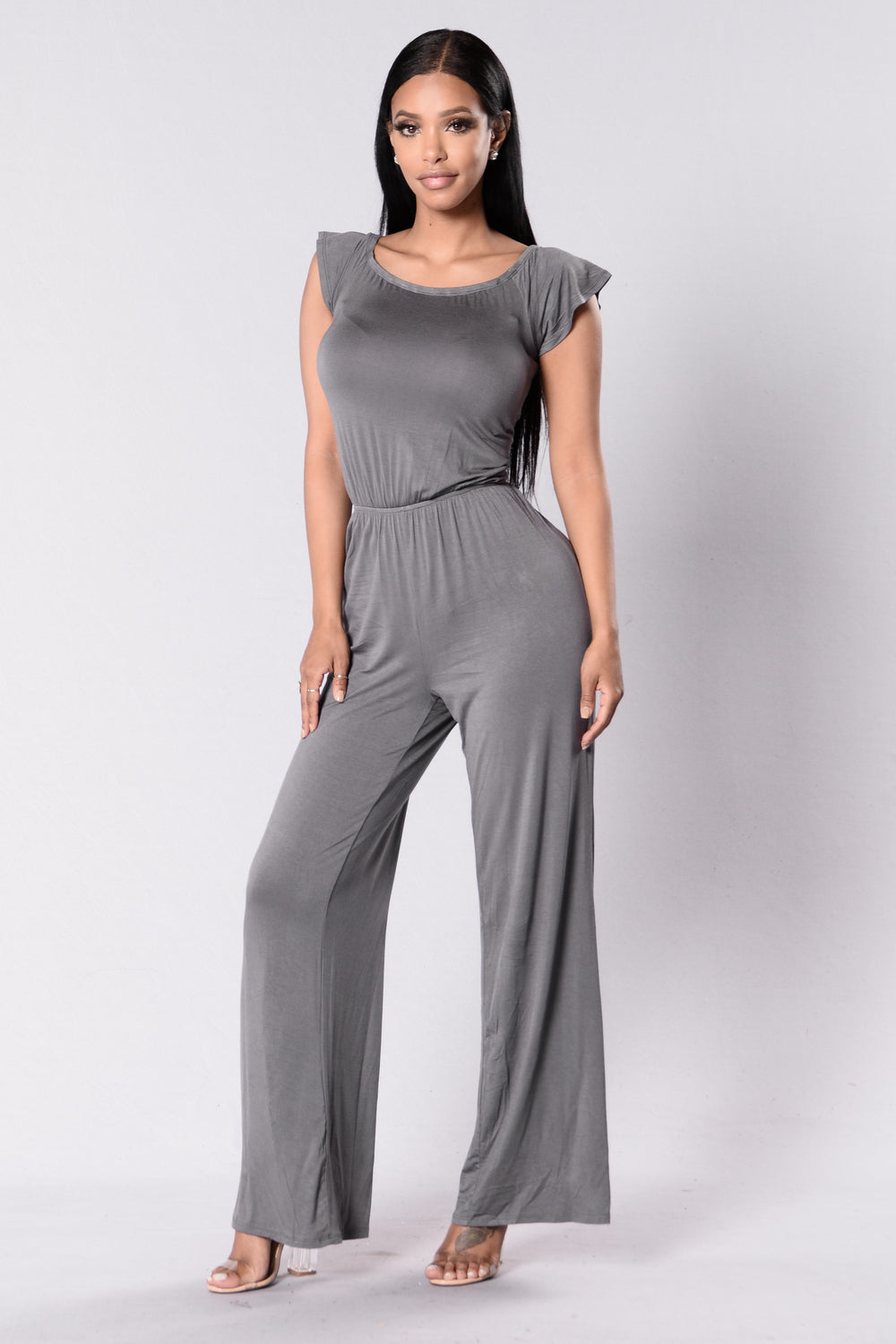 Kaley Jumpsuit - Charcoal