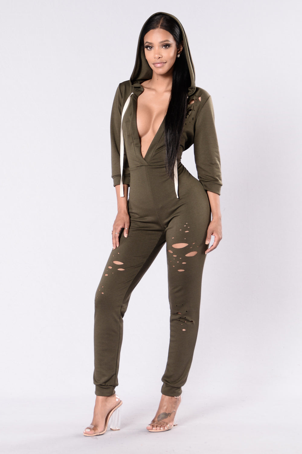 Miss Me Jumpsuit - Olive