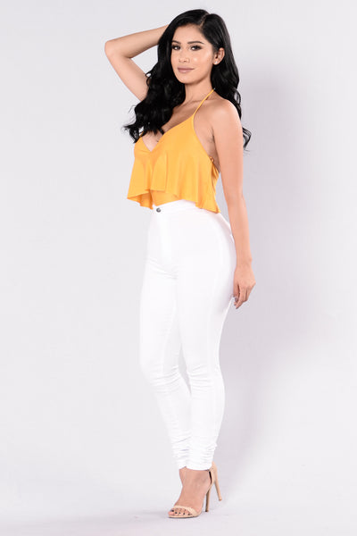 Kiss You All Over Bodysuit - Mustard