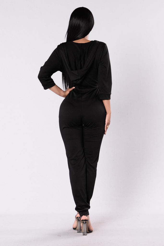 Miss Me Jumpsuit - Black