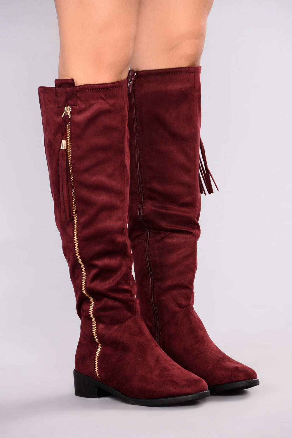 Amorie Flat Boot - Wine