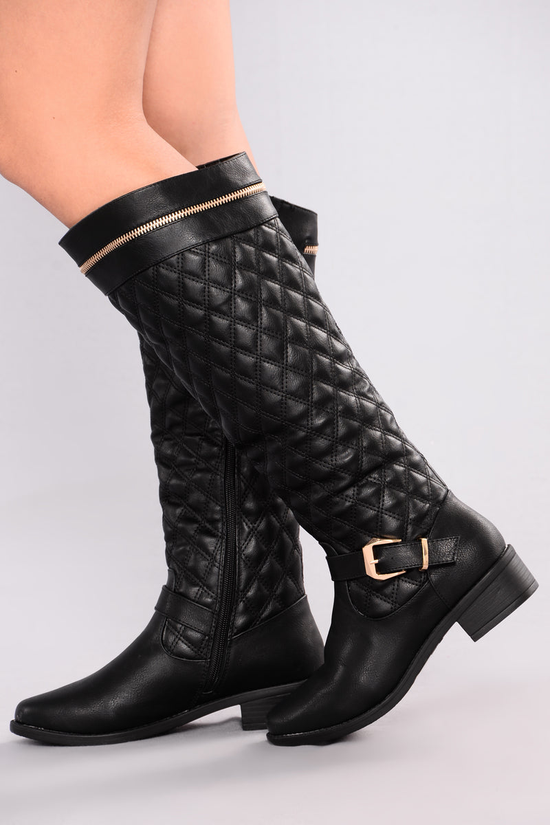 Siluy Flat Boot - Black