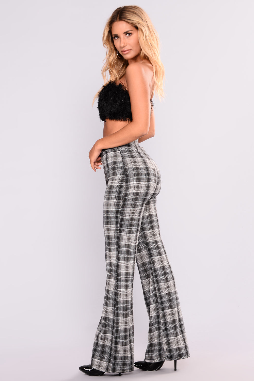 Rosiella Plaid Pants - Black