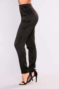 Rise To The Occasion Pant Suit Set - Black