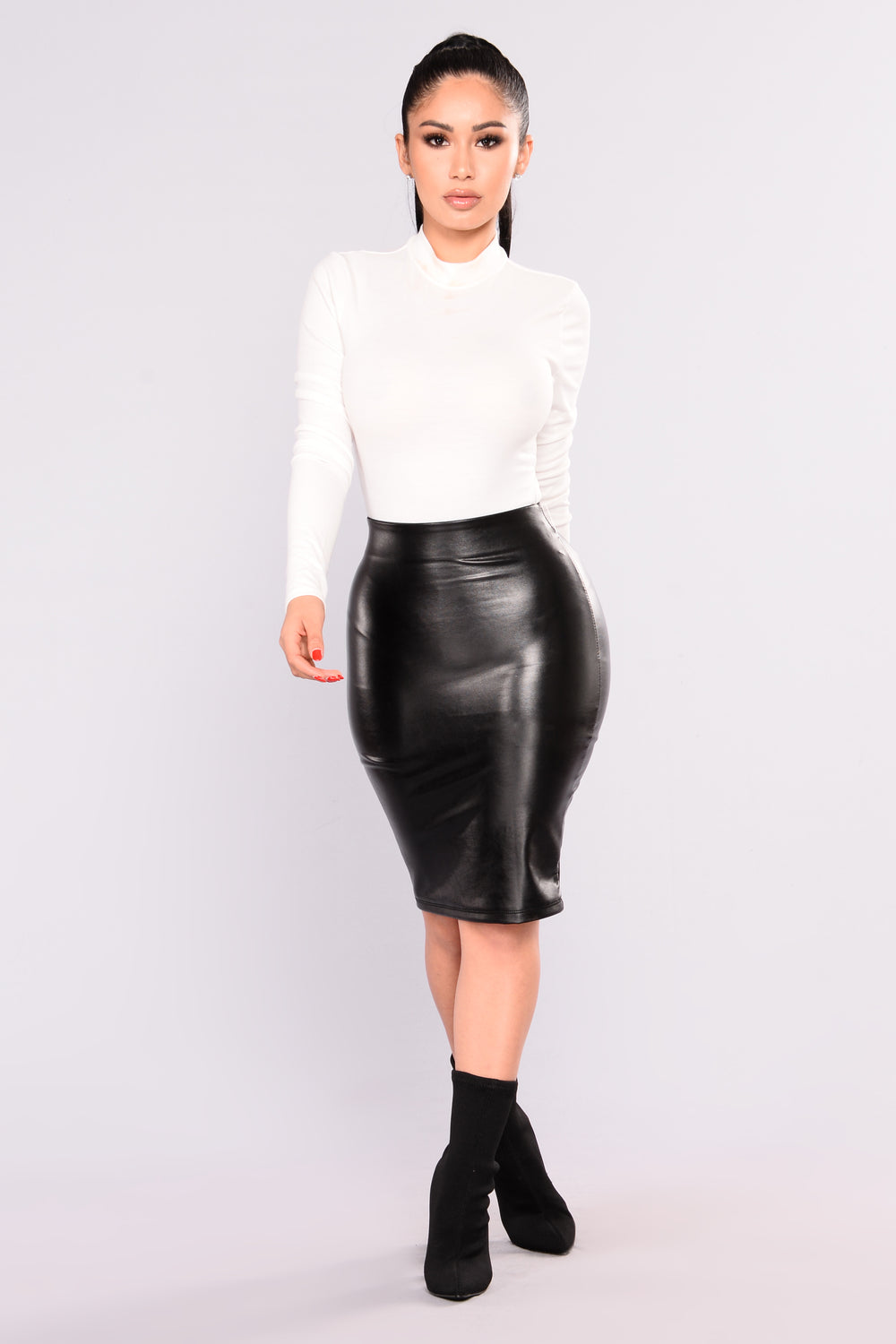So Real Midi Skirt - Black
