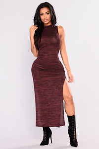 Niki Heathered Dress - Rose
