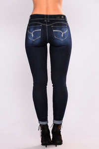 Nice One Booty Lifting Jeans - Dark Denim