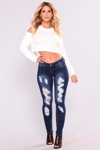 See That Girl Skinny Jeans - Dark Denim
