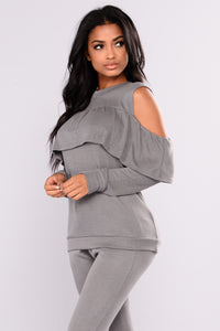Sarai Lounge Top - Grey