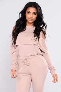 Sarai Lounge Top - Dusty PInk Angle 1