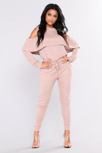 Sarai Lounge Top - Dusty PInk Angle 4