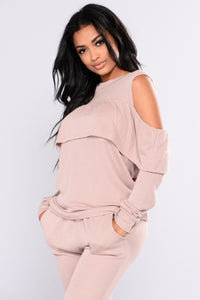 Sarai Lounge Top - Dusty PInk Angle 3