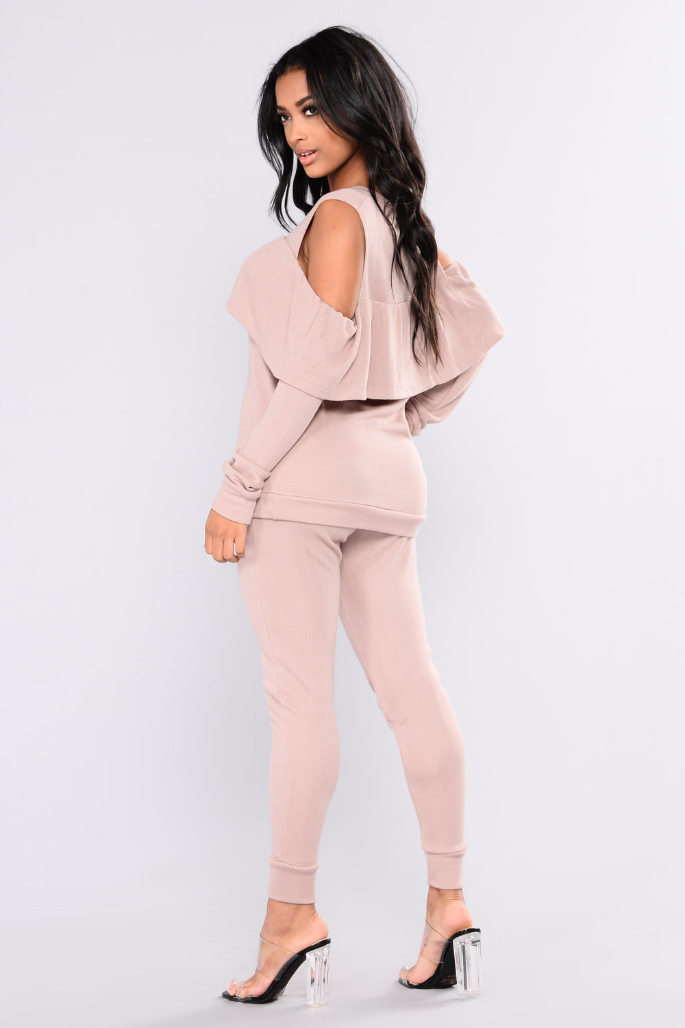 Sarai Lounge Top - Dusty PInk