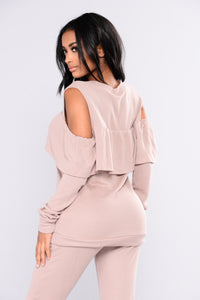 Sarai Lounge Top - Dusty PInk Angle 2