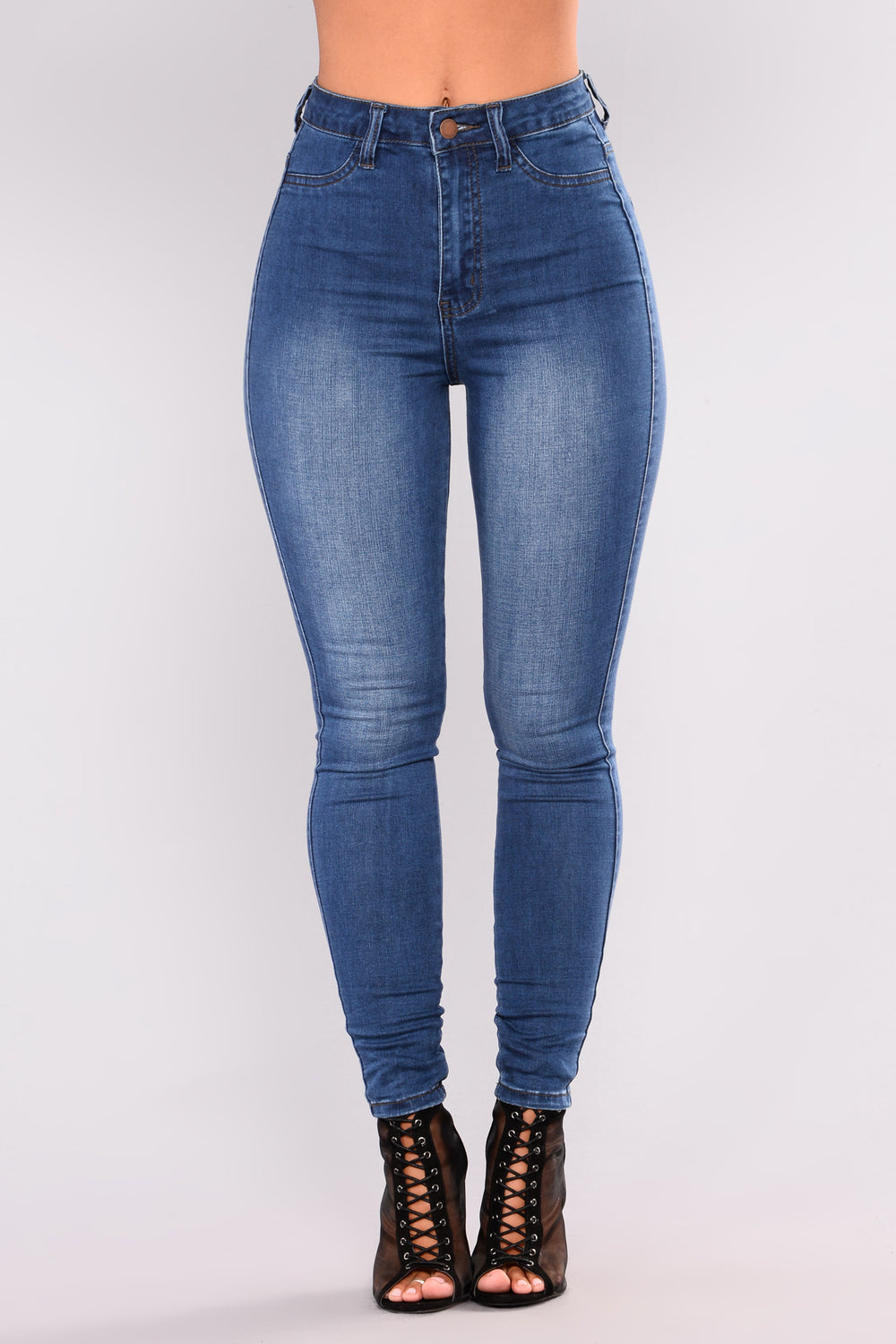 Iced Latte Please Ankle Jeans - Medium Blue Wash