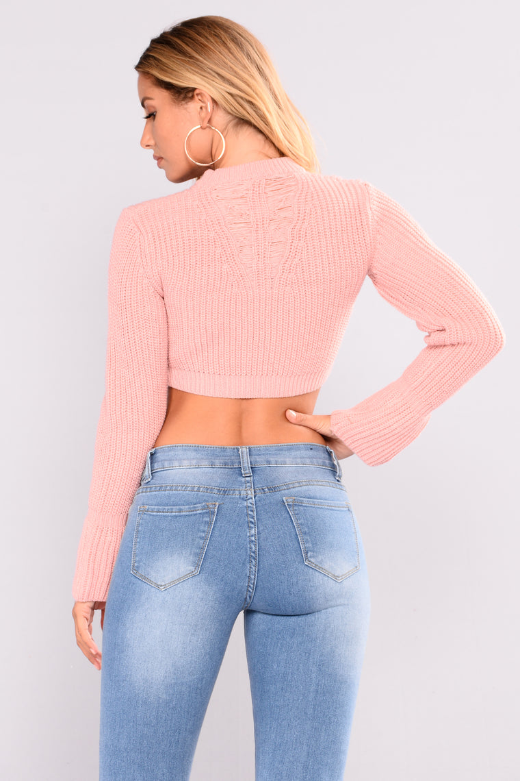 Chanelle Scoop Neck Sweater - Dusty Pink