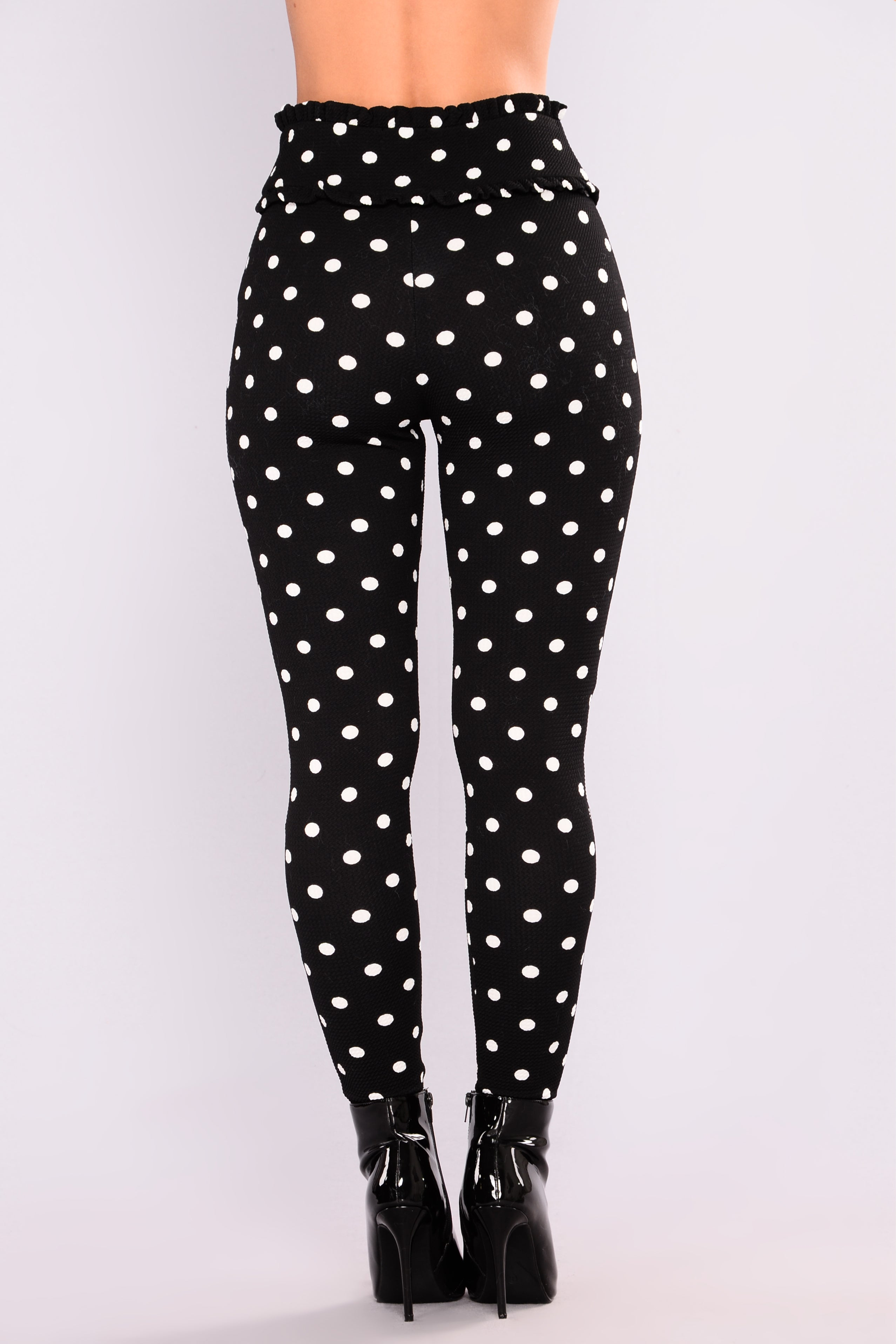polka dot pants polka dots white black 30737