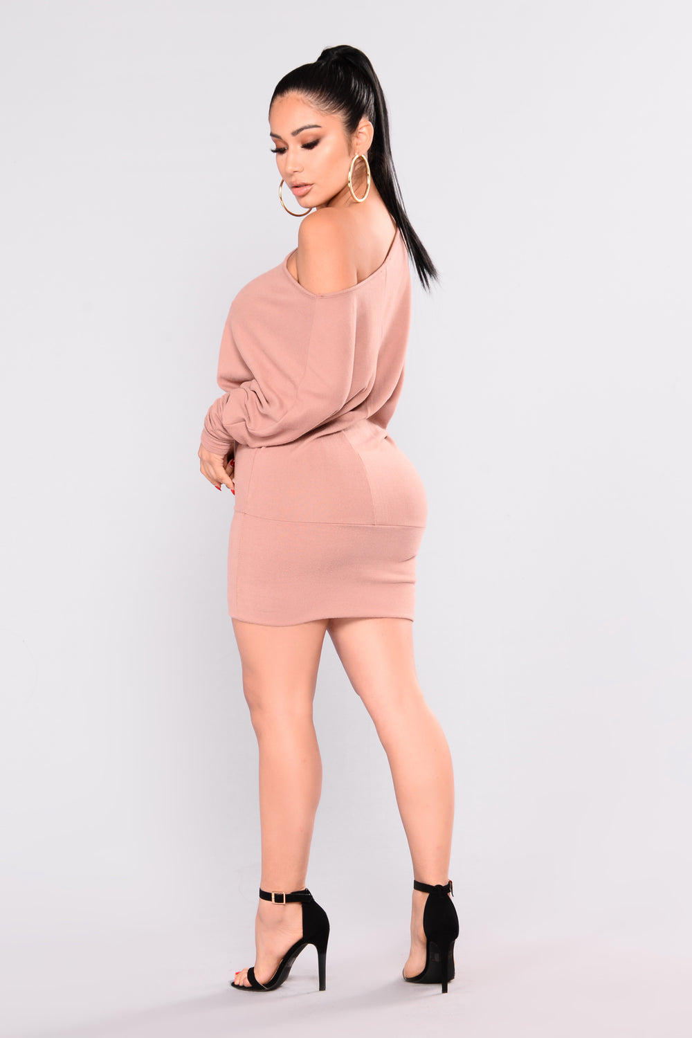 Priya Sweater Dress - Mauve