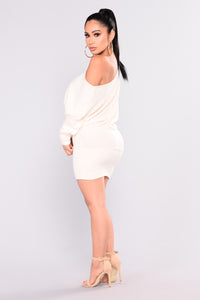 Priya Sweater Dress - Ivory