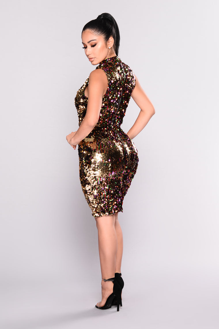 Sequin Soul Dress - Rainbow