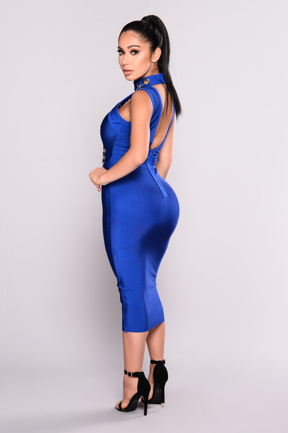 Change This Love Bandage Dress - Royal